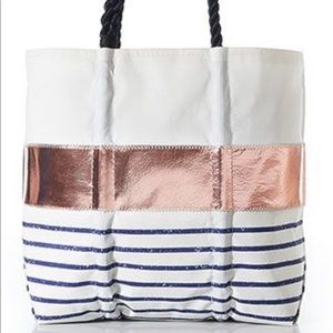 SeaBags rose gold tote